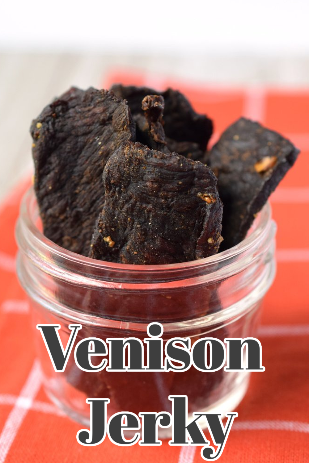 Venison Jerky - Make venison jerky right at home with this step-by-step guide. Such a great way to use up extra venison and make a delicious snack. Homemade Venison Jerky | Venison Jerky Recipe | Deer Jerky Recipe
